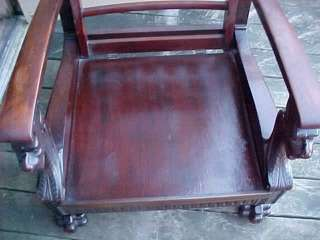 CARVED LION HEAD MAHOGANY ARM CHAIR Parlor Pa. Estate Furniture