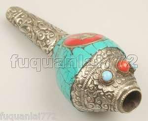 Tibetan Conch Shell Bugle Buddhist Trumpet Horn 4.5