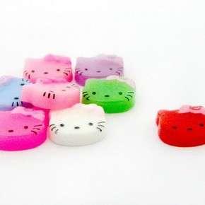 B0551 (40 pcs) Mix Hello Kitty 9MM Nail Art Resin Flatback Decals Bow