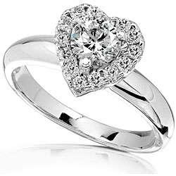 14k Gold 3/4ct TDW Diamond Heart shape Engagement Ring (HI, I1 I2