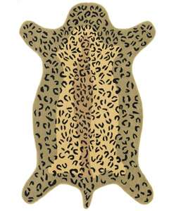 Handmade Wool Leopard Rug (4 x 6)