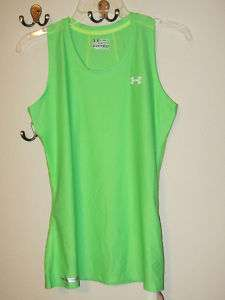 28 UNDER ARMOUR HG WOMENS FITTED TANK TOP RUNNING 883814991456