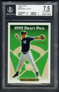 ~NEW YORK YANKEES~1993 TOPPS GOLD GRADED BGS 7.5 ROOKIE/RC CARD #98