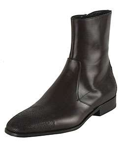 Prada Perforated Mens Leather Ankle Boots