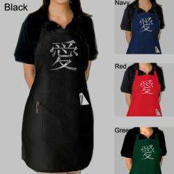 Los Angeles Pop Art Chinese Love Symbol Kitchen Apron  Overstock