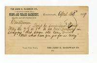 1889 John H. McGowan Co Cincinnati OH Pumps Postal Card