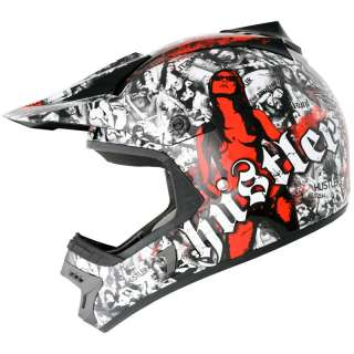 ONEAL ROCKHARD HUSTLER LIMITED EDITION MX ENDURO MOTOCROSS CRASH