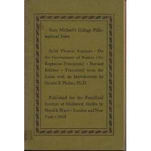 Saint Michaels College Philosophical Texts  Saint Thomas