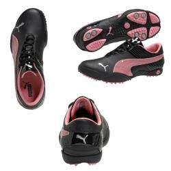 Puma Womens Loop Patent Black/ Pink/ Silver Golf Shoes