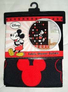 MOUSE FABRIC SHOWER CURTAIN by Disney Home Bathroom Decor GREAT GIFT
