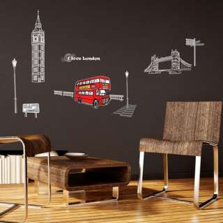 London Wall Decal Removable Decor Adhesive Stickers