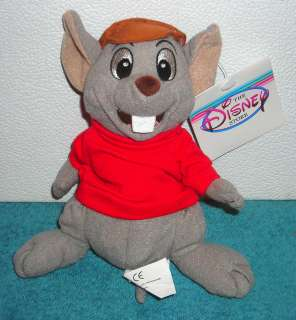 STORE EXCLUSIVE THE RESCUERS BERNARD 8 BEAN BAG PLUSH TOY NEW