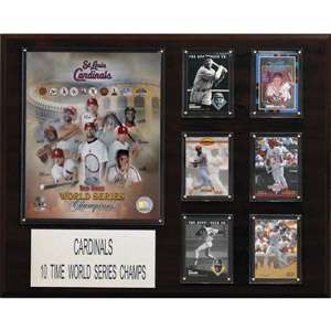 MLB St. Louis Cardinals 10 Time World Series Champions Plaque, 16 x