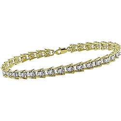10k Gold 1ct TDW Diamond Tennis Bracelet (I J I3)