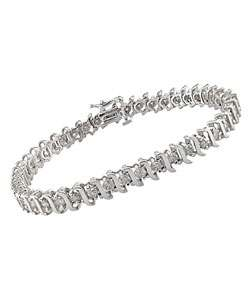 14k White Gold 3ct TDW Diamond Tennis Bracelet (I J, I2 I3