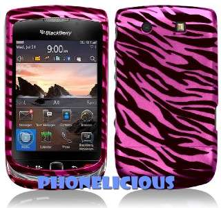 For BLACKBERRY TORCH Phone Cover Hard Case PINK ZEBRA