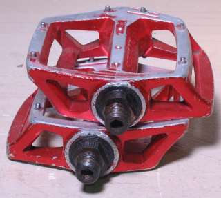 Old School BMX Shimano DX Pedals   1/2   Red   Used   Rough Condition
