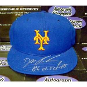 Signed Mets hat inscribed 86 WS Champs (New York Mets 1986 World Seri