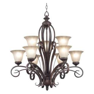 Kenroy Home 91039AT Rochester 9 Light Chandelier   33W in