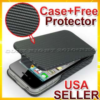 22 ACCESSORIES FOR IPHONE 4 4S BLACK LEATHER HARD CASE COVER CAR