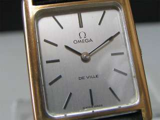 1970s OMEGA mechanical watch [DeVille] Rectangle Cal.625
