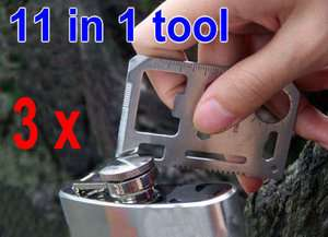Mini 11 in 1 Survival Camping Tool Credit Card Size Multi function