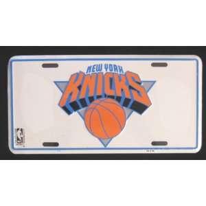 New York Knicks NBA Metal License Plate   White Sports
