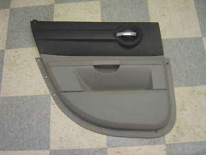 06 09 Dodge Charger Black & Gray LH Rear Door Panel