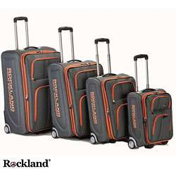 Olympian 4 piece Charcoal Expandable Luggage Set