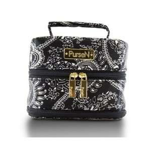 PurseN Small Weekender Tiara Jewelry Travel Case in Black