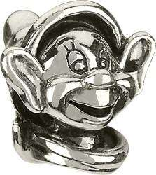 Genuine Authentic Chamilia Silver Dopey Disney Charm Bead Retired Dis