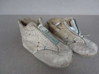Pair VINTAGE BABY SHOES, Leather & Felt