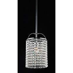Indoor 1 light Chrome/ Crystal Pendant Chandelier