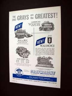 Gray Marine V8 & Rolls Royce Marine Engines print Ad