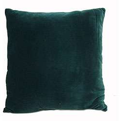 Exchange 16 inch Square Hunter Green Throw Pillows (Set of 2