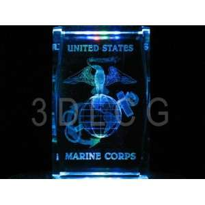 United States Marine Corps U.S.M.C. S1 3D Laser Etched