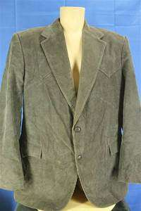 Circle S Ranch Wear 46R 46 Regular Dark Gray Corduroy Western Suit