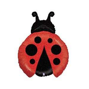 Party Supplies 27 Inch Ladybug Mylar Balloon: Toys & Games