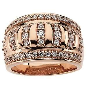 14K Rose Gold Etruscan Inspired Diamond Ring   0.75 Ct. Jewelry