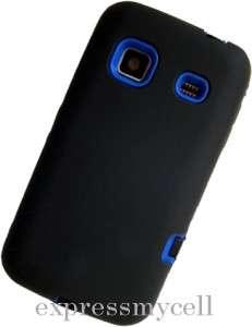 Screen + BLACK BLUE Armor Impact Case Cover Boost Mobile SAMSUNG