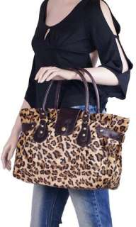 New Stylish Sexy Leopard Print Tote Bag Handbag #B35