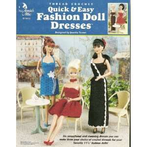 Annies Attic Thread Crochet Quick & Easy Fashion Doll Dresses Books