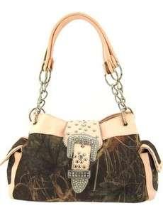 Light Pink Camo Mossy Oak Belt Buckle Cowgirl Handbag Purse