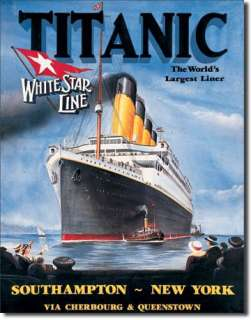 Titanic White Star Poster Tin Sign Reproduction