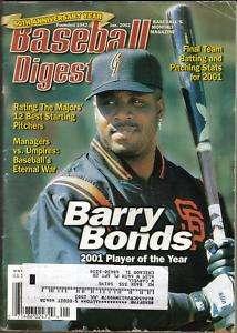 2002 Baseball Digest Barry Bonds San Francisco Giants
