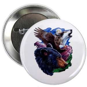 2.25 Button Bear Bald Eagle and Wolf: Everything Else