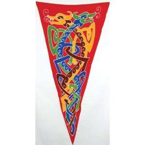 AzureGreen Celtic Double Dragons Pennant: Home & Kitchen