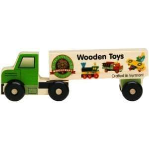Wooden Semi Truck Wooden Toys   8 Long: Toys & Games
