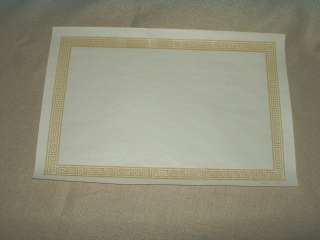 Key Yellow Golden Color Margin White Paper Placemats 9 x 13.5
