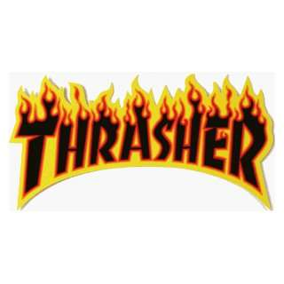 THRASHER FLAMES DECAL MEDIUM: Sports & Outdoors